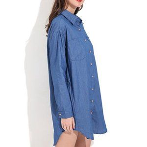 4/$25 Zanzea women's long sleeve denim button down